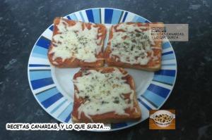 PIZZAS DE PAN DE MOLDE